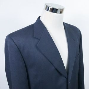 Canali Mens 42R Sport Coat Navy Textured Frateeli